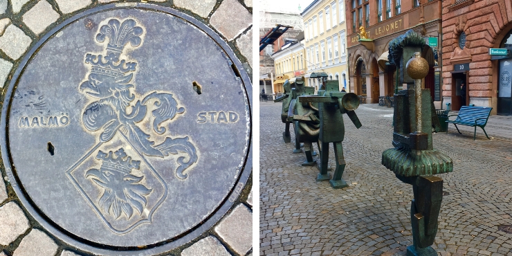 Malmo city sculptures