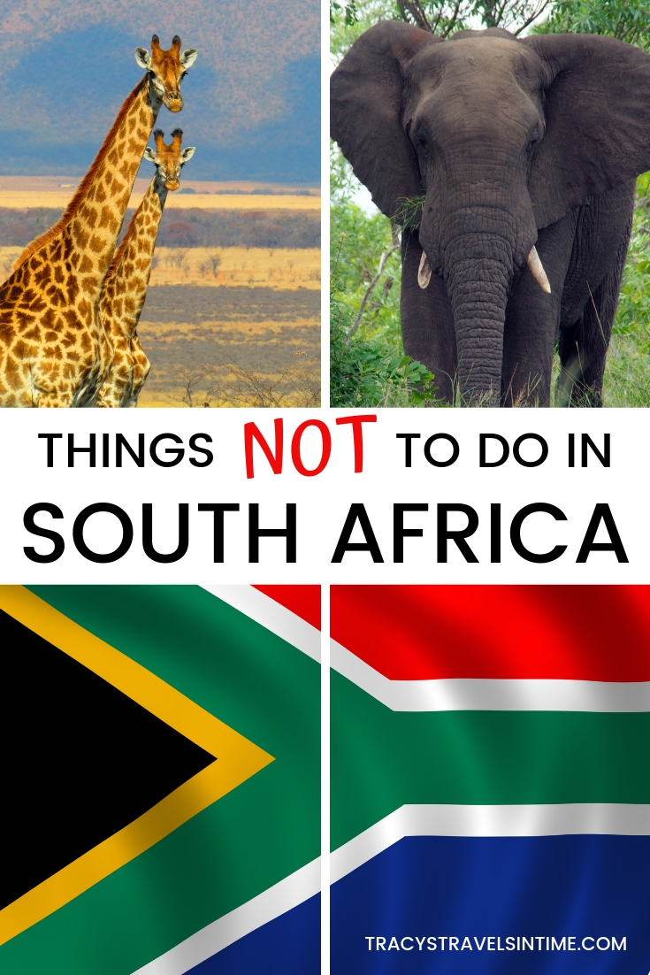 Things not to do in South Africa