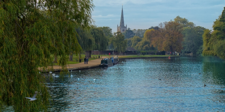 The River Avon in Stratford - day trips from London by train