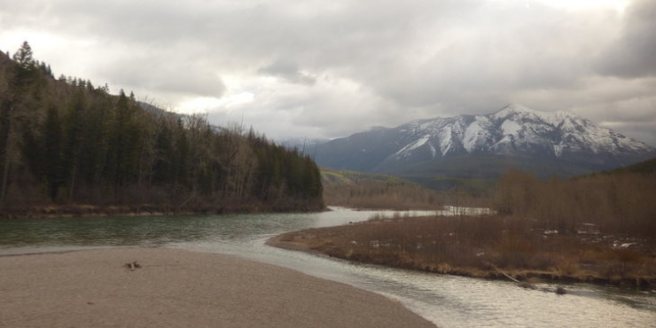 The Empire Builder - view from the train