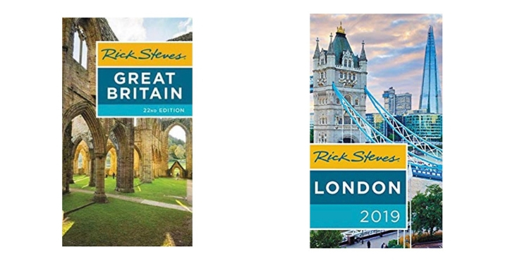 Rick steves guidebooks for the UK and London