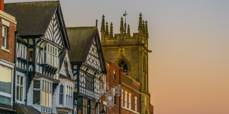 Chester half timbered houses