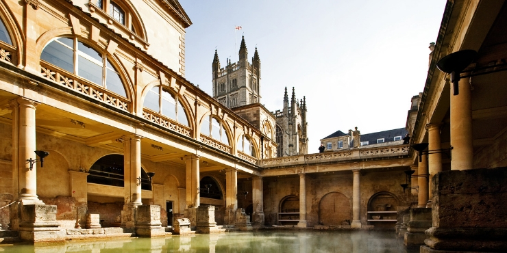 The Roman Baths in Bath England