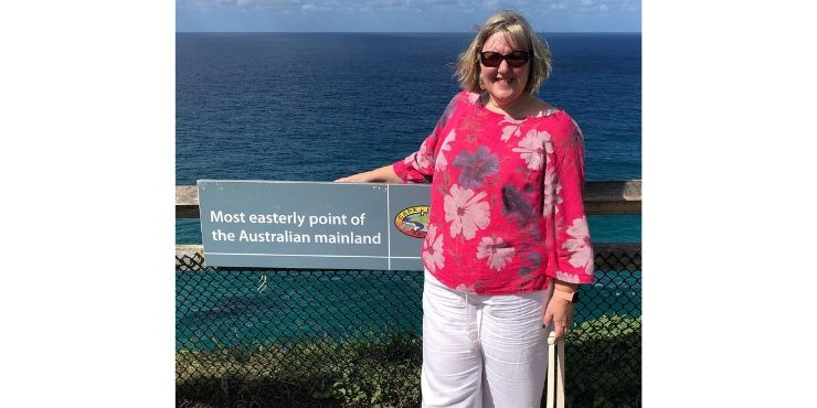 Tracy at the most easterly point of the Australian mainland