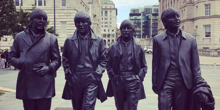 The Beatles statue in Liverpool - best cities in England