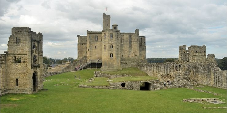 6 of the Best Northumberland Castles to Visit featured by top international travel blogger, Tracy's Travels in Time: image of Warkworth Castle