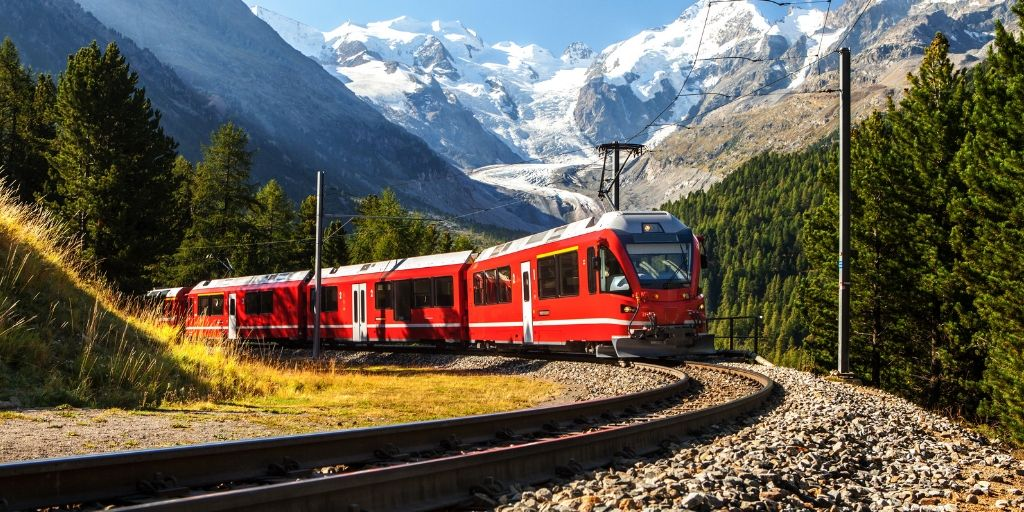 Best Switzerland Scenic Train Trips featured by top international travel blogger, Tracy's Travels in Time