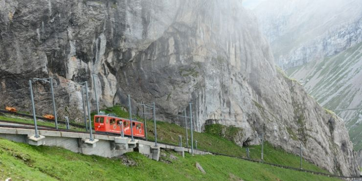 MT PILATUS VIEW OF COG RAILWAY