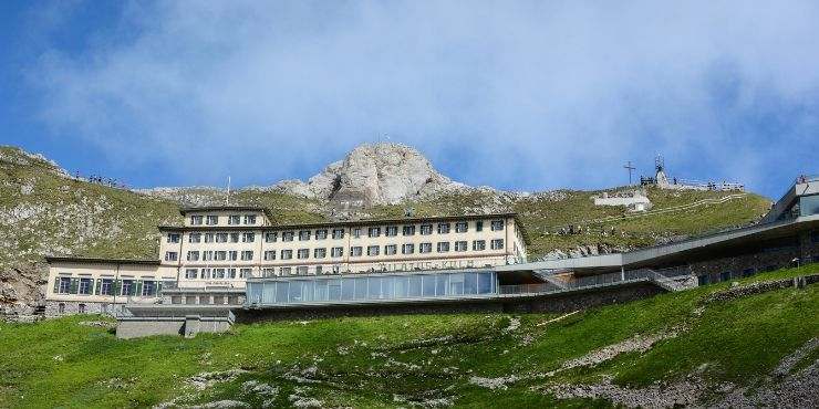 MT PILATUS VIEW OF THE PILATUS-KULM HOTEL