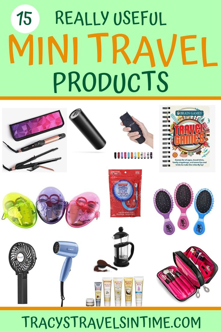 Top 15 travel size products to take on your next trip featured by top international blogger, Tracy's Travels in Time