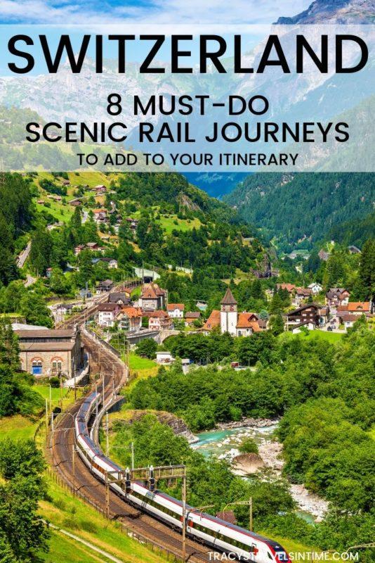 Switzerland scenic train travel