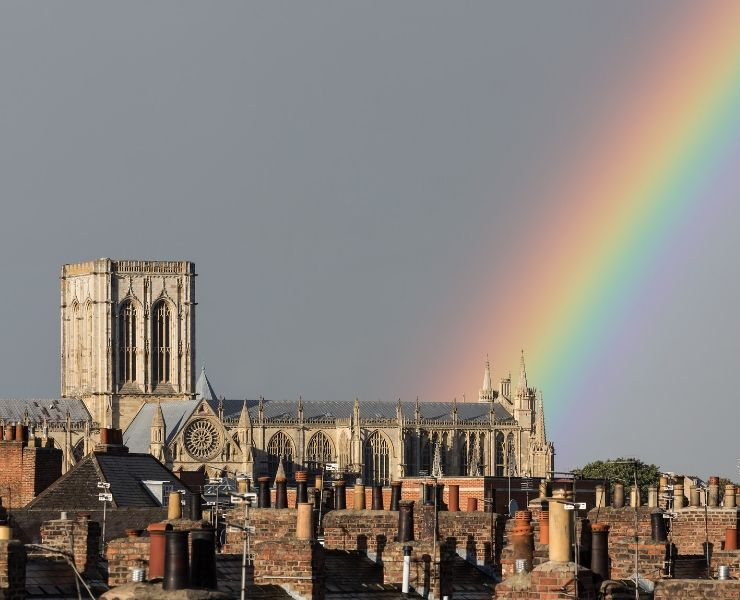 RAINBOW OVER YORK MINSTER
