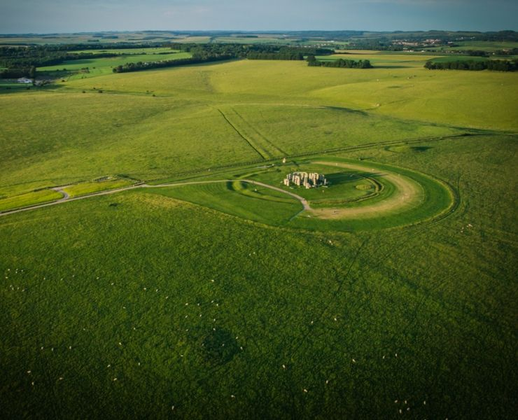 Tips for visiting Stonehenge featured by top international travel blogger, Tracy's Travels in Time: Aerial view of Stonehenge