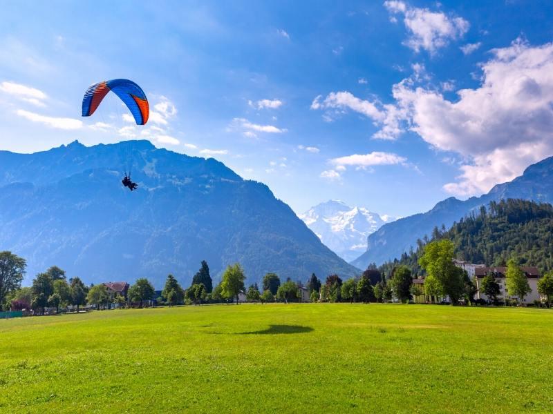 Paragliding in Interlaken in Switzerland