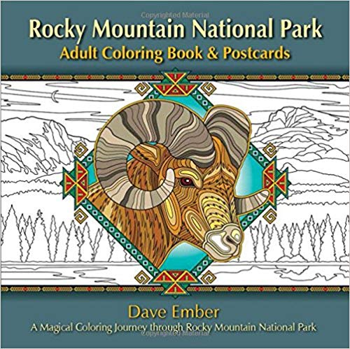 Rocky Mountain National Park Adult Coloring Book