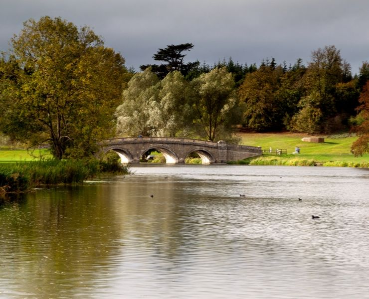 A river and a bridge in Blenheim Gardens