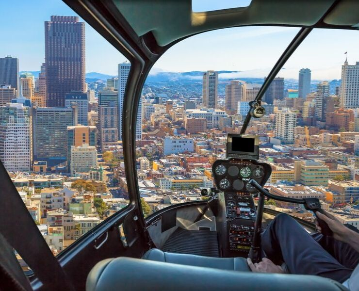 View of San Francisco from a helicopter