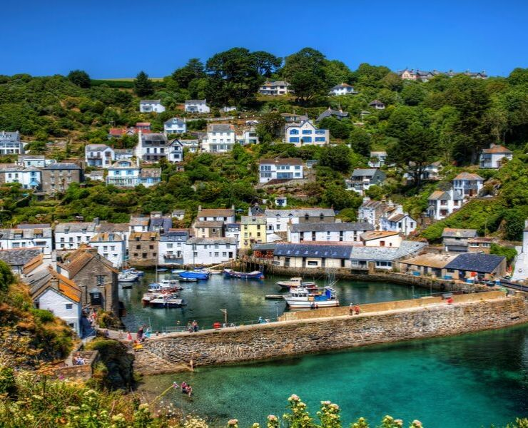 Cornish fishing village.
