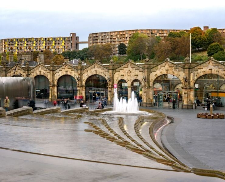 Sheffield Train Station in England