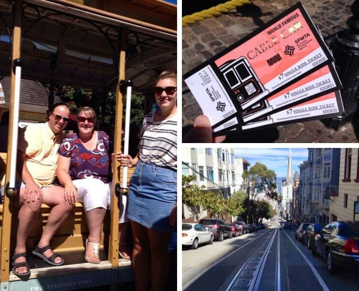 Tickets for the cable car in San Francisco