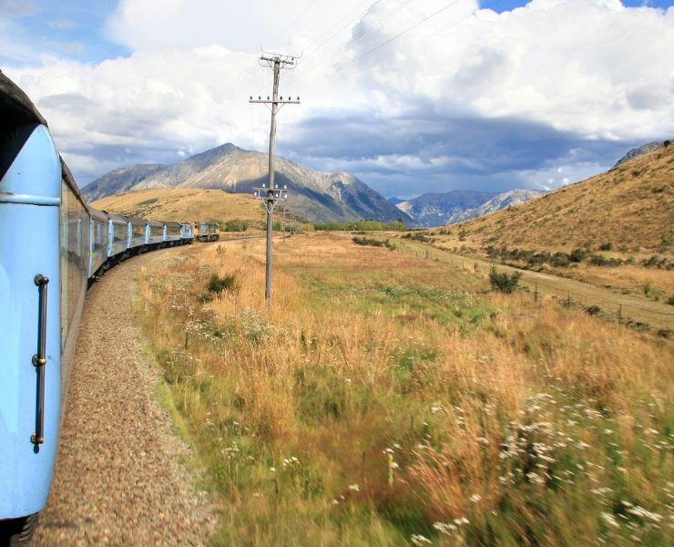 The Tranzalpine train in New Zealand