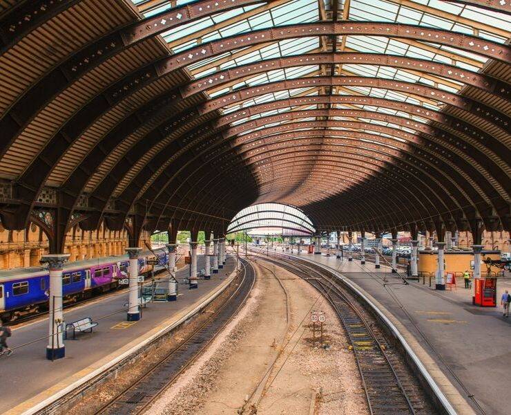 York train station in the UK