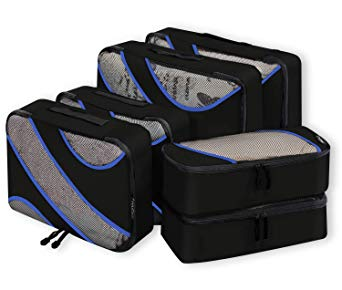 6 Set of Packing Cubes in 3 Various Sizes