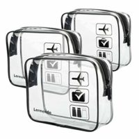 3pcs TSA Approved Toiletry Bag with Zipper
