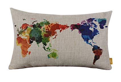 World Map Pillow Cases