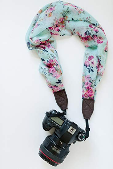 Avellaine Co. Floral Scarf Camera Strap