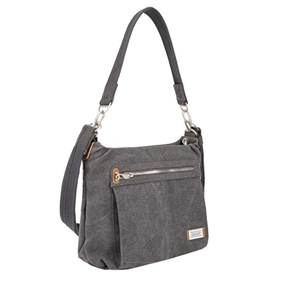 Travelon Anti-Theft Heritage Hobo Bag, Pewter