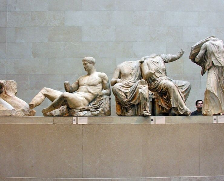Ancient statues at the British Museum