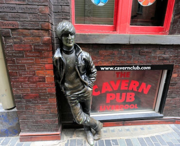 The statue of John Lennon outside the Cavern Club in Liverpool