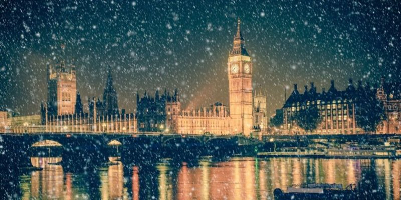 London winter scene
