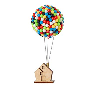 Wooden House with 400pcs Colorful Pins