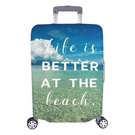 Travel Quote Luggage Cover
