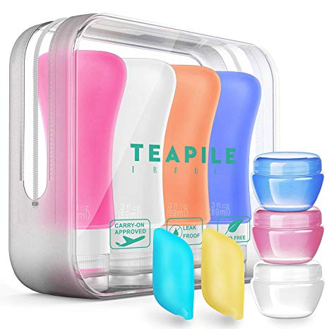 9 Pack Travel Bottles TSA Approved Containers