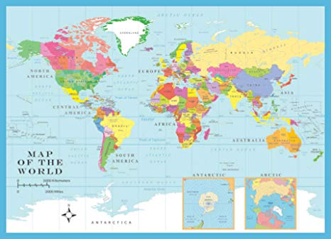 World Map 1000 Piece Jigsaw Puzzle
