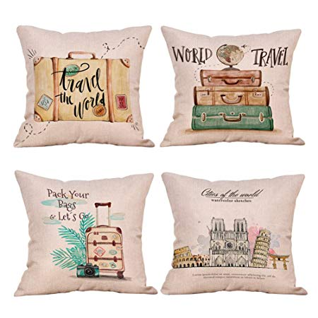 Travel quote cushions