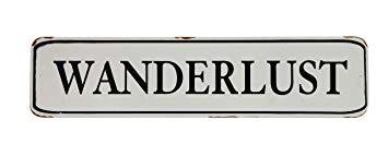 Wanderlust Street-Sign
