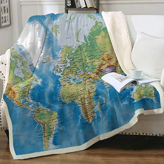 Map Fleece Blanket