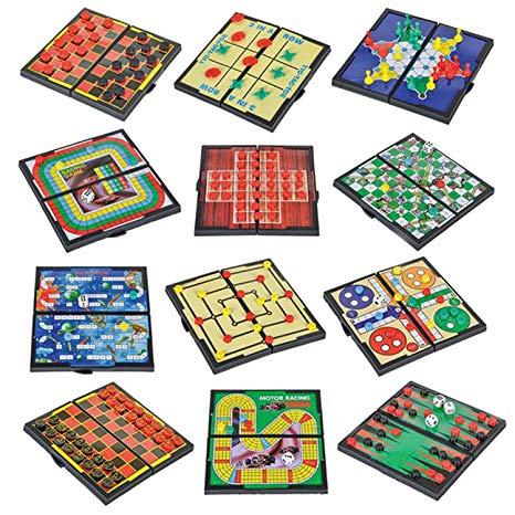 Magnetic Board Game Set Includes 12 Retro Fun Games