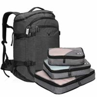 Hynes Eagle Travel Backpack with 3PCS Packing Cubes