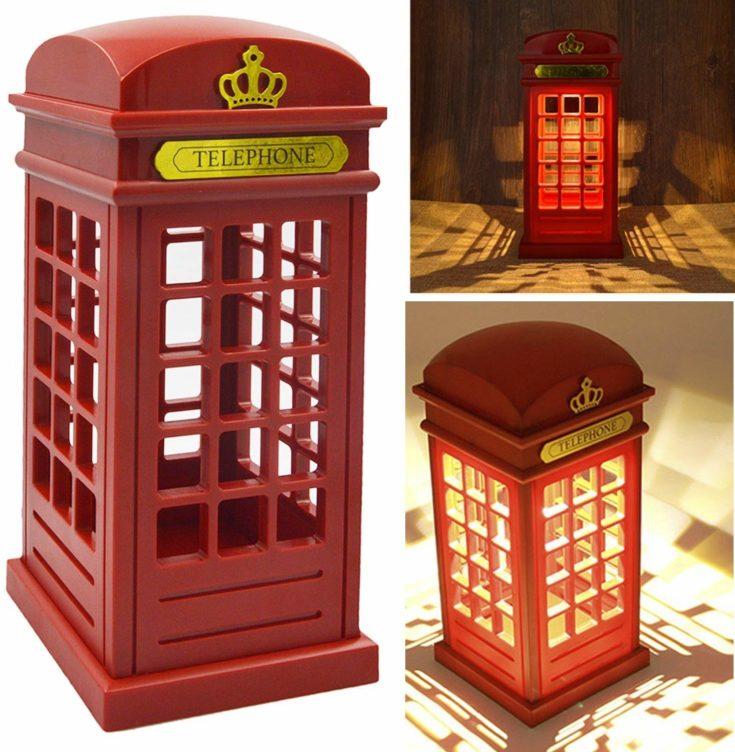 Vintage London Telephone Booth Night Lamp