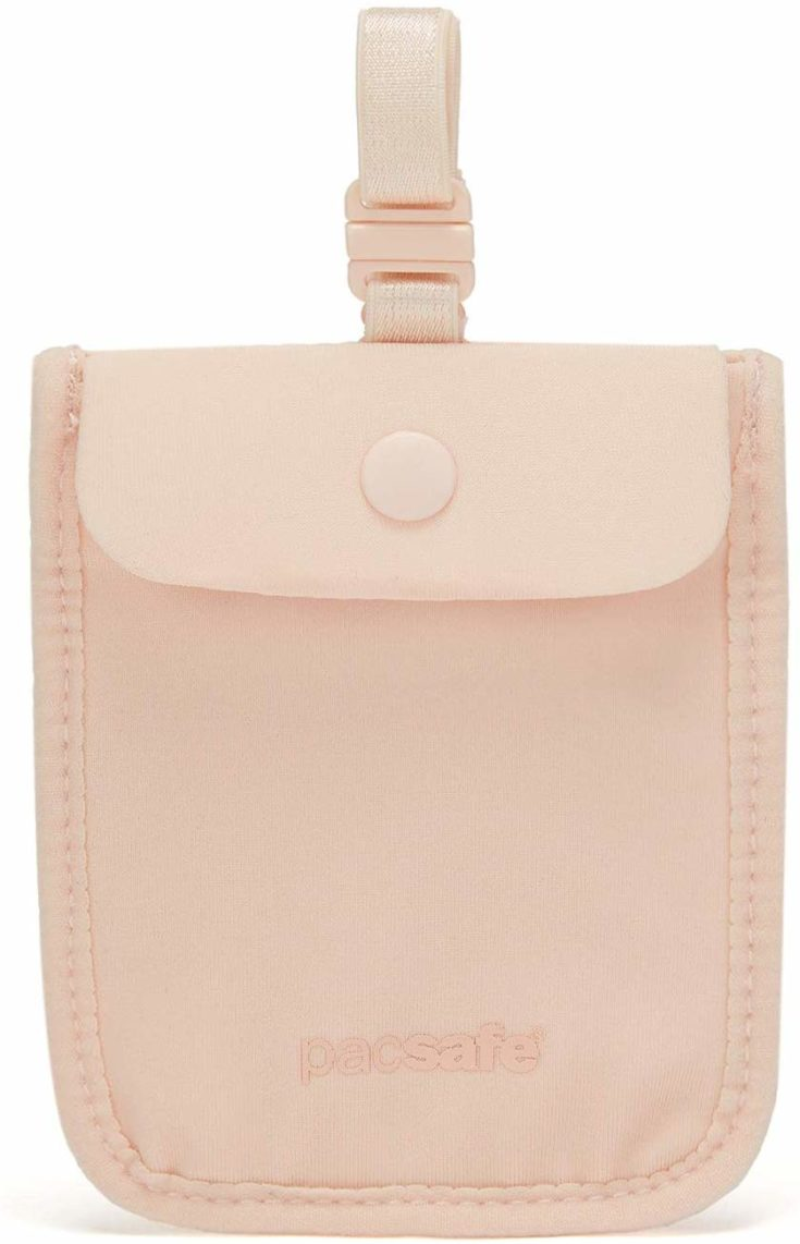 Pacsafe Coversafe S25 Hidden Undercover Travel Pouch for Women (Washable)