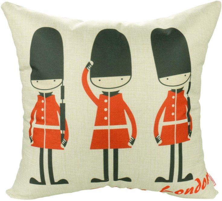 2 British Royal Guards Cushion Covers