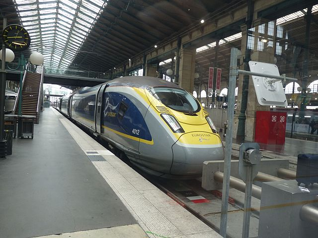 Eurostar train at the station