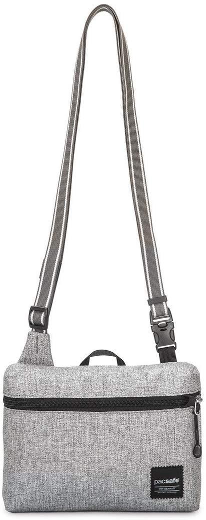 Pacsafe Slingsafe Lx50 Anti-Theft Mini Cross-Body Bag, Tweed Grey