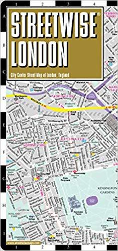 Streetwise London Map - Laminated City Center Street Map of London