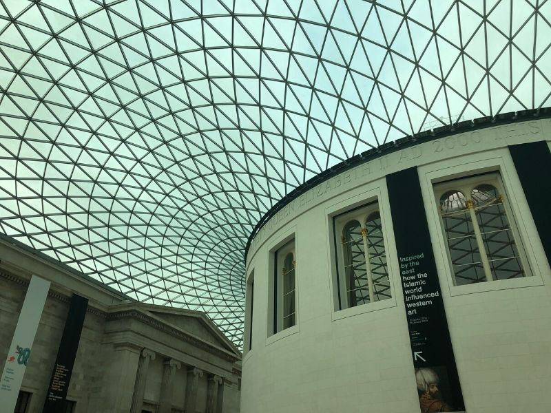 British Museum entrance in London